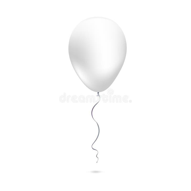 在白色背景隔绝的可膨胀的空气飞行气球 向量例证