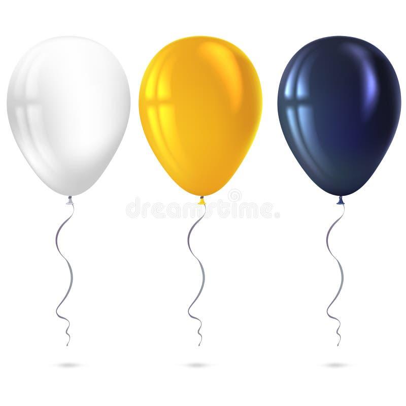 在白色背景隔绝的可膨胀的空气飞行气球 库存例证
