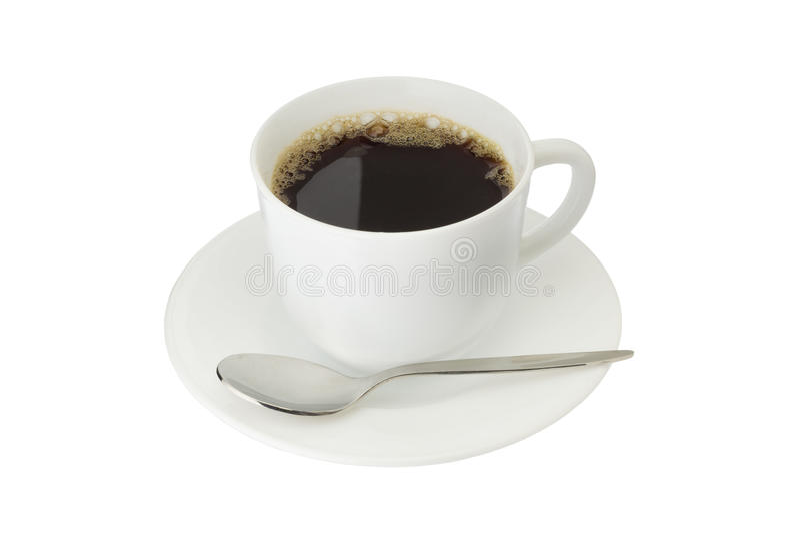 被隔绝的咖啡 免版税库存照片