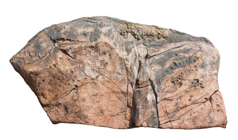 在白色背景隔绝的大岩石 免版税库存照片