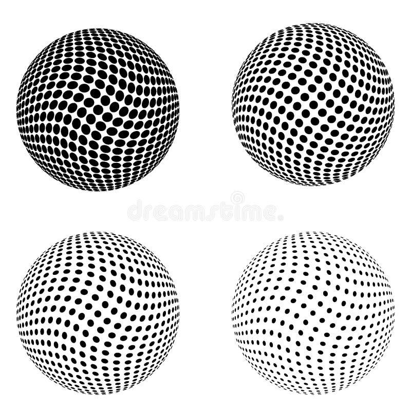 在白色背景隔绝的套半音圈子 半音作用光点图形的汇集图片