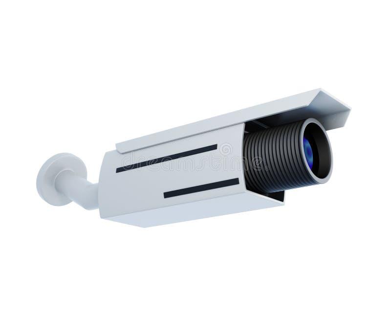 在白色背景隔绝的安全摄象机 3d翻译 皇族释放例证