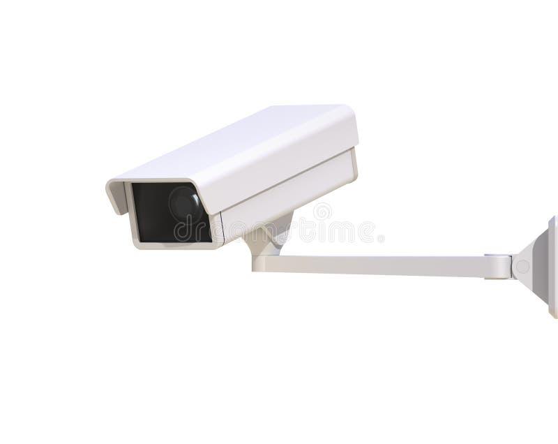 在白色背景隔绝的安全监控相机 向量例证