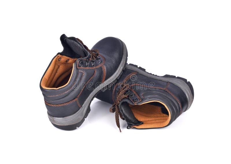 在白色背景隔绝的安全靴 免版税库存图片