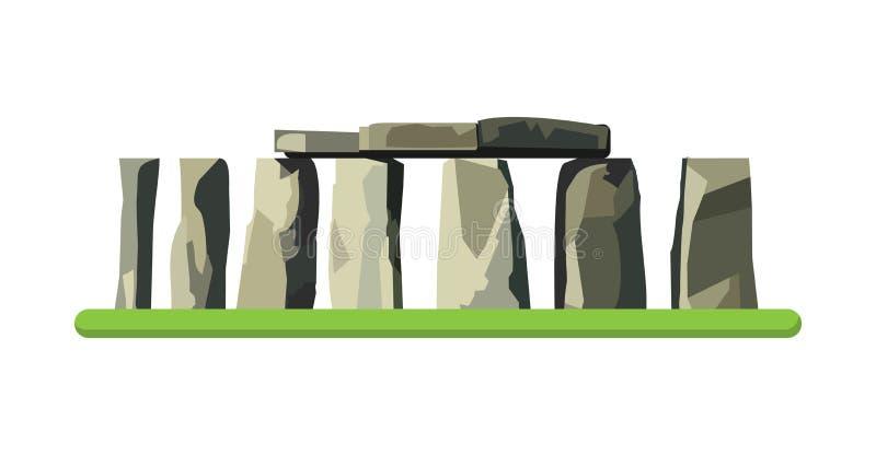 在白色背景隔绝的巨石阵象 也corel凹道例证向量 向量例证