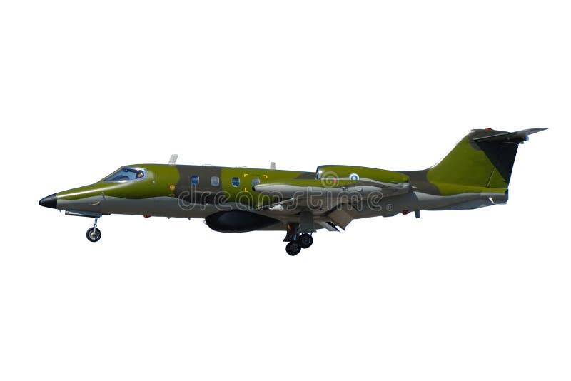 在白色背景隔绝的战争飞机 免版税图库摄影