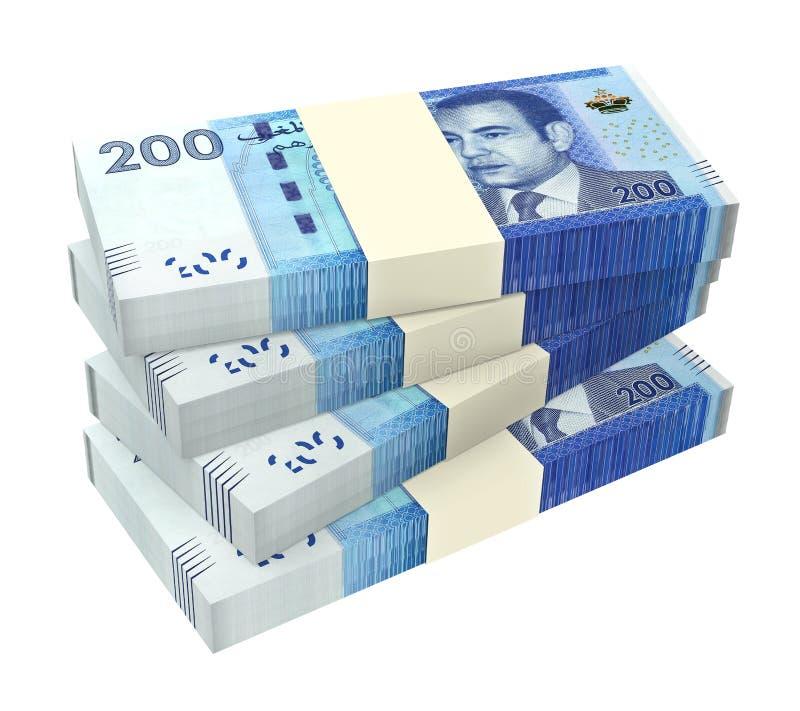 在白色背景隔绝的摩洛哥金钱 向量例证