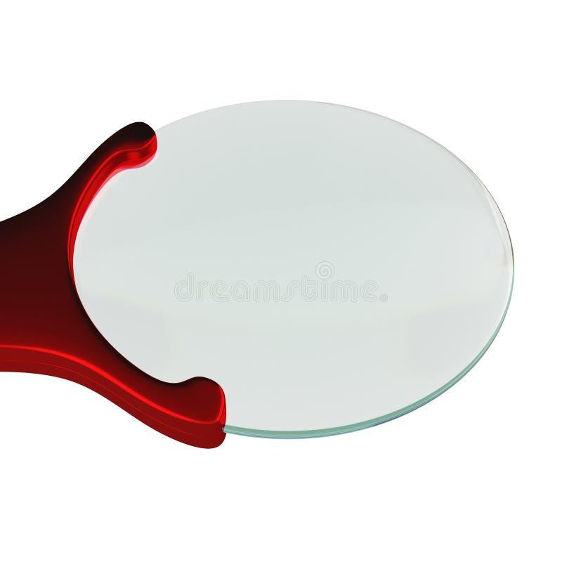 在白色背景隔绝的放大镜, 3D翻译 皇族释放例证