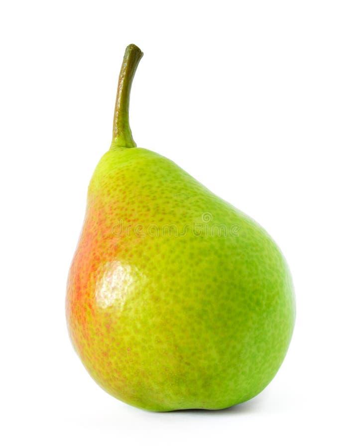 在白色背景隔绝的新鲜的成熟梨 免版税库存照片