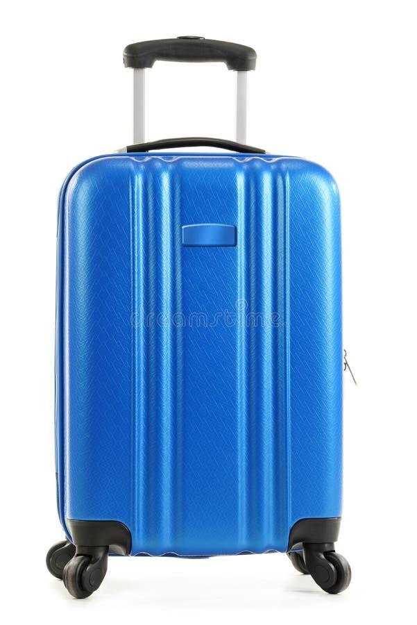在白色背景隔绝的旅行手提箱 免版税库存图片