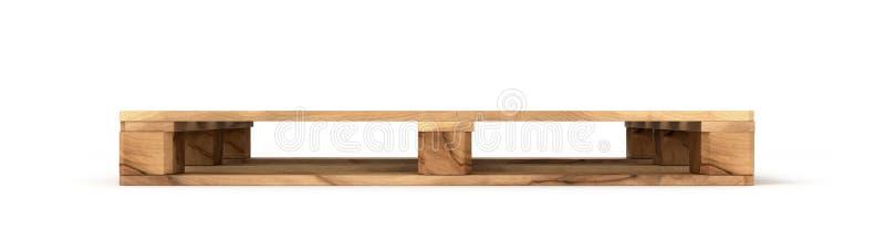 在白色背景隔绝的木欧洲板台球 免版税图库摄影