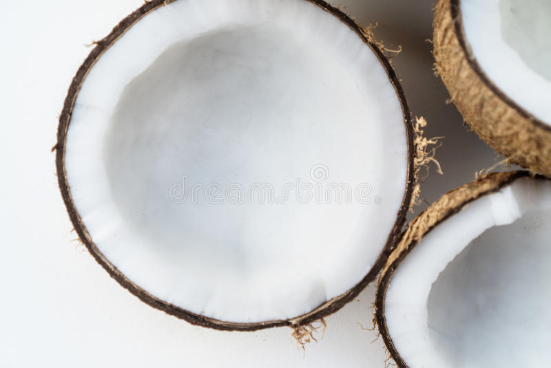 在白色背景隔绝的椰子 图库摄影