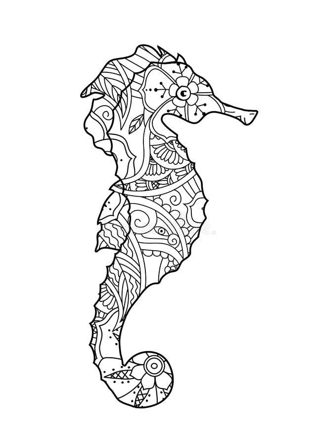在白色背景隔绝的海象手拉的剪影 皇族释放例证