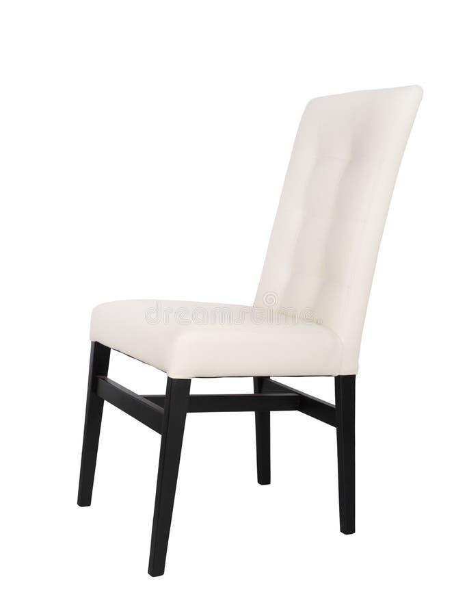在白色背景隔绝的现代椅子 免版税库存图片