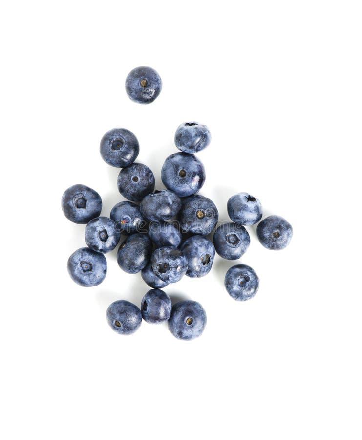 在白色背景隔绝的甜蓝莓 免版税库存照片