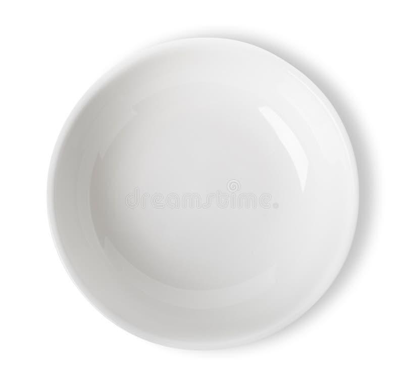 被隔绝的白色碗 库存图片