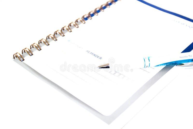 在白色背景隔绝的简单的精装书 免版税图库摄影