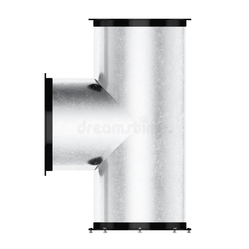 在白色背景隔绝的管子发球区域 3d翻译 向量例证
