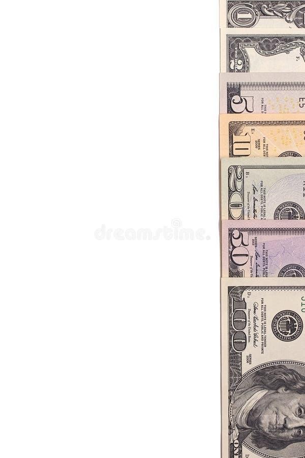 在白色背景隔绝的美国美国美元金融法案 免版税库存图片