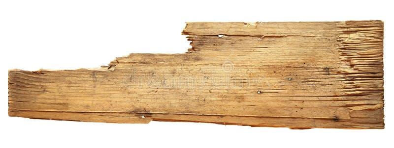 在白色背景隔绝的老木板
