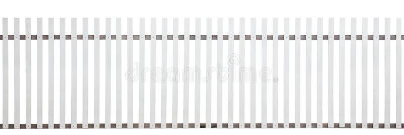 在白色背景隔绝的老木篱芭 库存图片