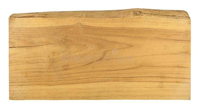 在白色背景隔绝的老板条木头 免版税库存图片