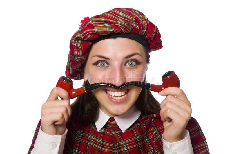 Download 在白色背景隔绝的苏格兰妇女 库存图片. 图片 包括有 书呆子, 衣物, 管道, 女性, scot, 裙子 - 72359047