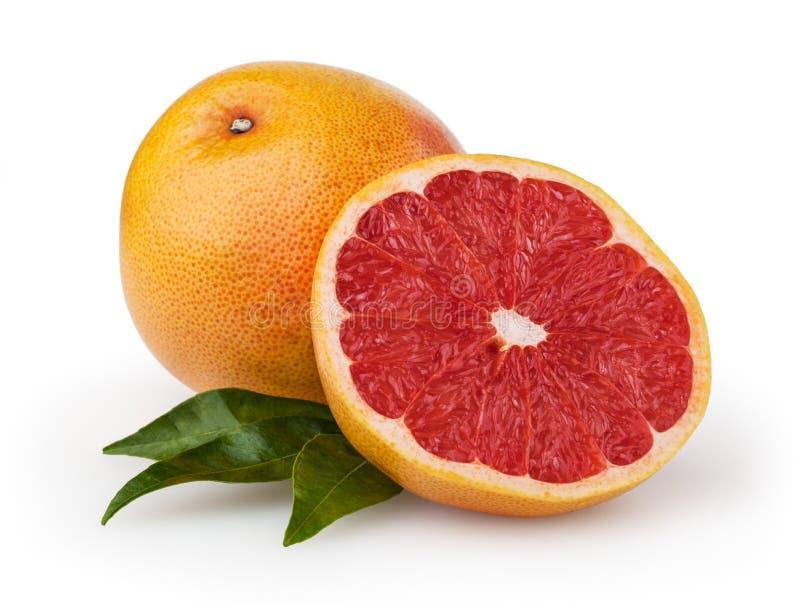 在白色背景隔绝的葡萄柚 免版税库存照片
