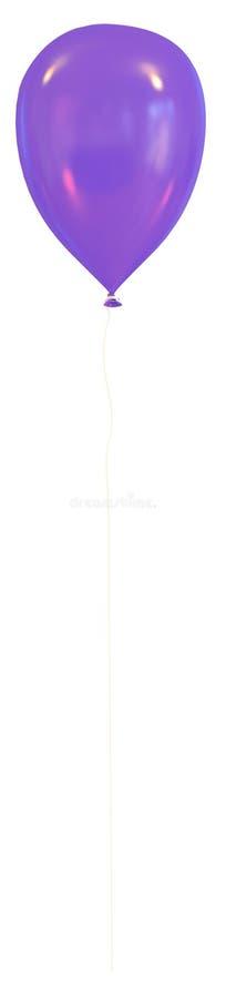 在白色背景隔绝的蓝色气球 库存照片