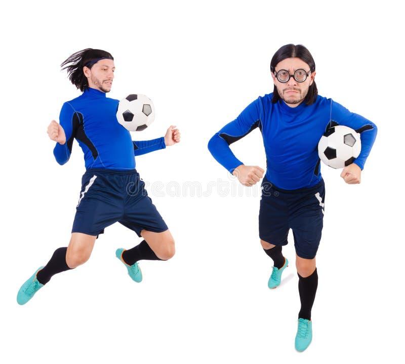 Download 在白色背景隔绝的足球运动员 库存照片. 图片 包括有 足球运动员, 休闲, 有效地, 蒙太奇, 综合, 滑稽 - 72367046