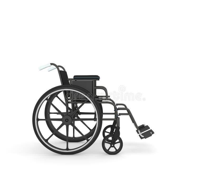 在白色背景隔绝的轮椅 皇族释放例证