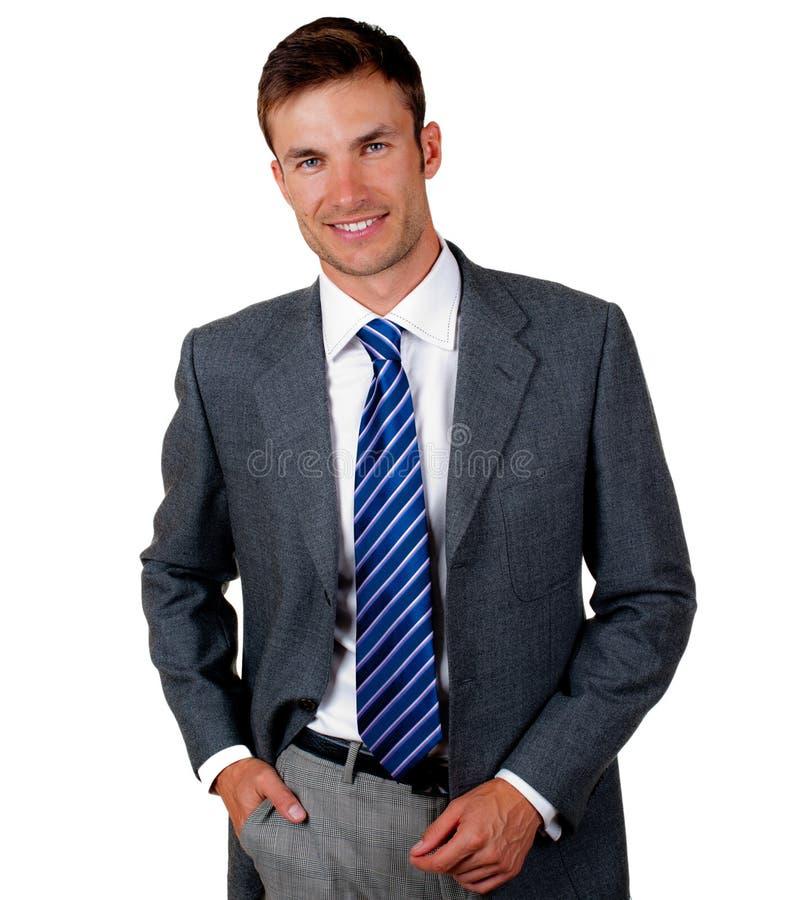 年轻商人的画象 免版税库存照片