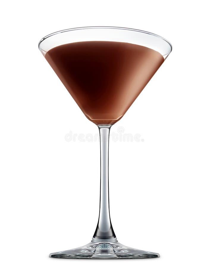在白色背景隔绝的酒精鸡尾酒 免版税库存照片