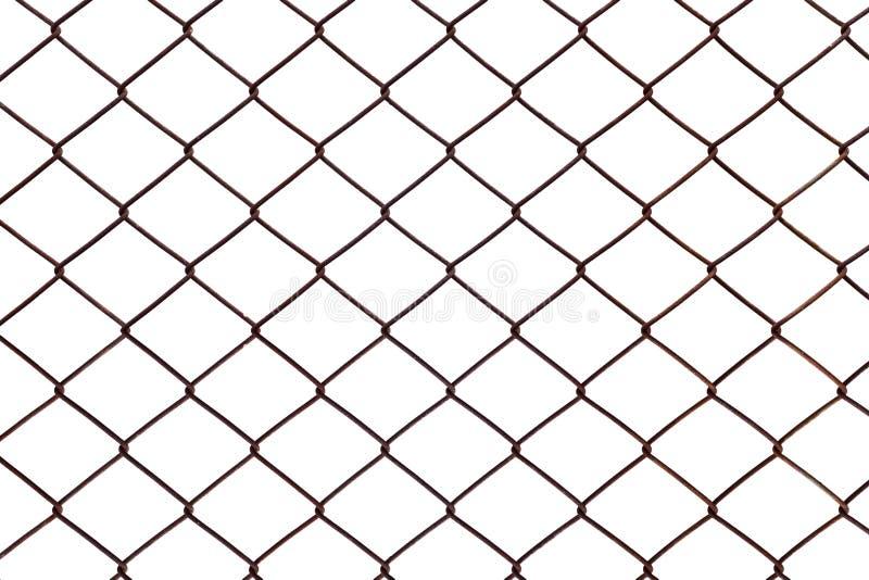 在白色背景隔绝的钢滤网生锈 向量例证
