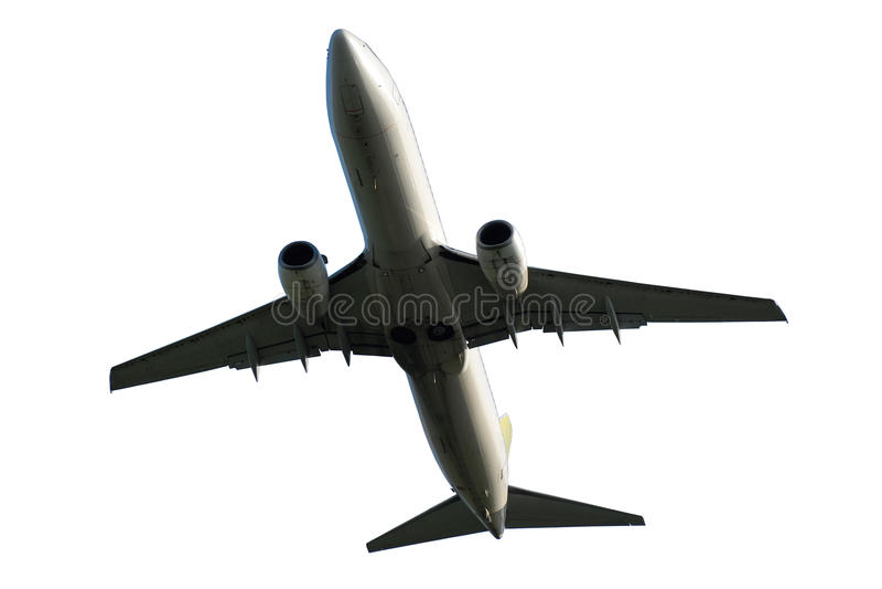 在白色背景隔绝的飞机 库存照片