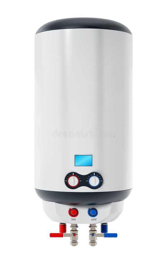 在白色背景隔绝的水加热器 3d例证 向量例证