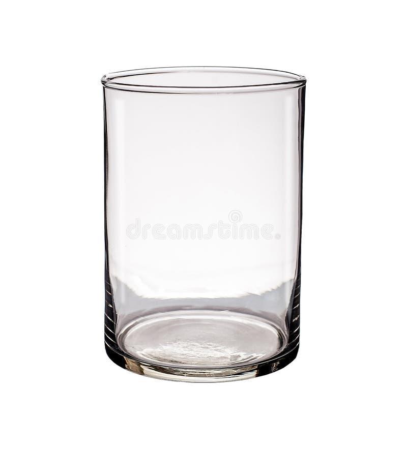 在白色背景隔绝的玻璃花瓶 免版税图库摄影