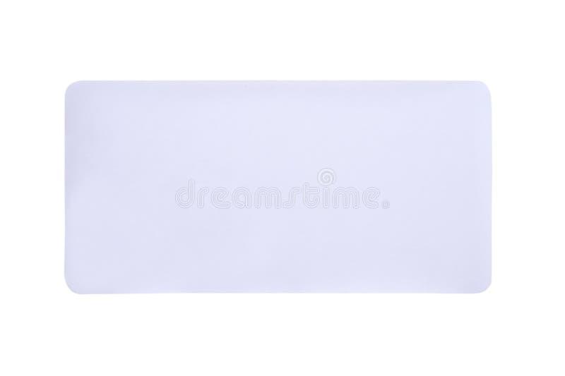 在白色背景隔绝的贴纸标签 免版税库存照片