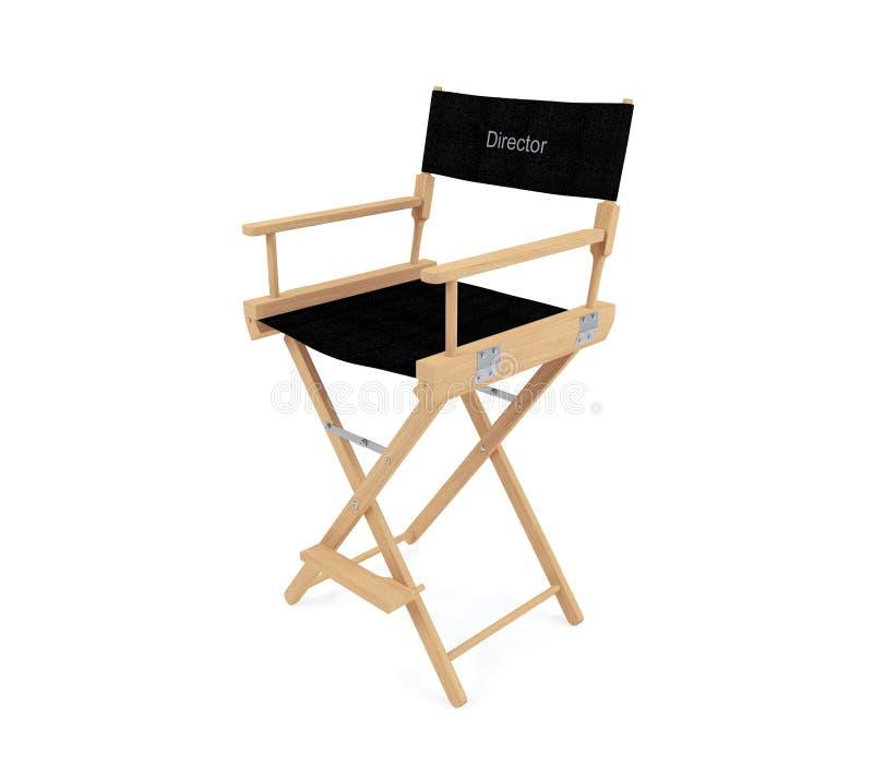 主任在白色背景隔绝的` s椅子 图库摄影