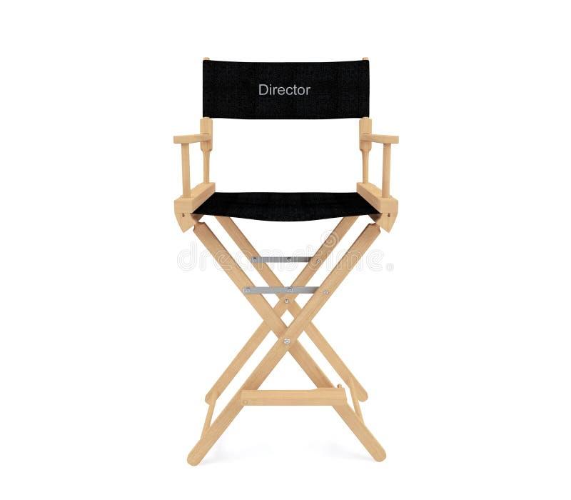 主任在白色背景隔绝的` s椅子 免版税库存图片