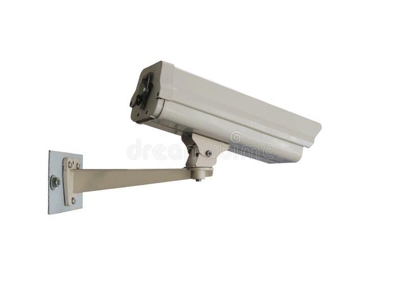 在白色背景隔绝的CCTV闭路的照相机 库存图片