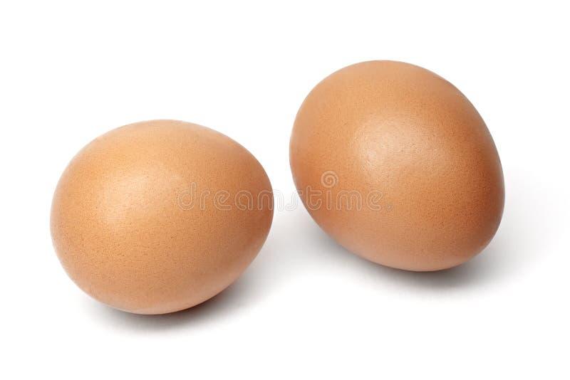 在白色背景隔绝的Chiken鸡蛋 免版税库存图片