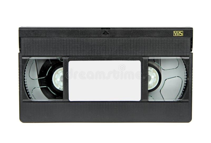 在白色背景隔绝的VHS录象带 库存照片