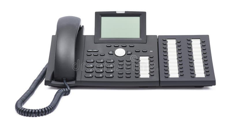 在白色背景隔绝的Voip电话 免版税库存图片