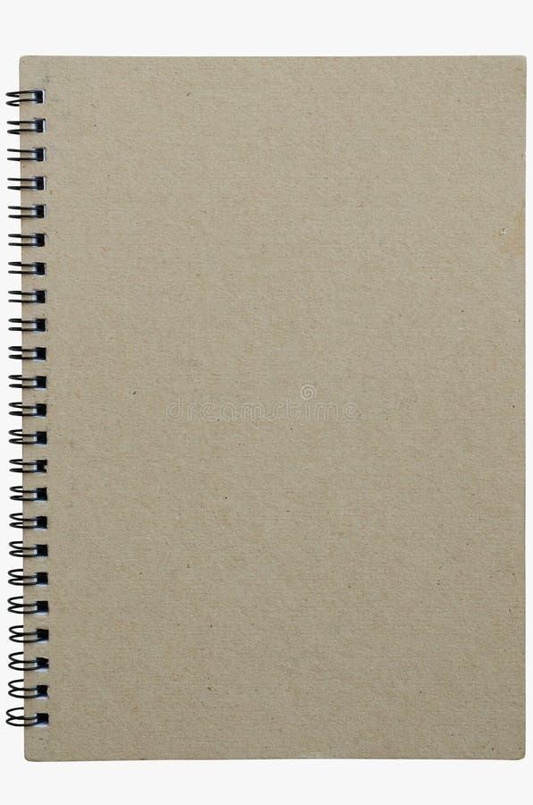 在白色背景隔绝的Wirebound笔记本 免版税库存图片