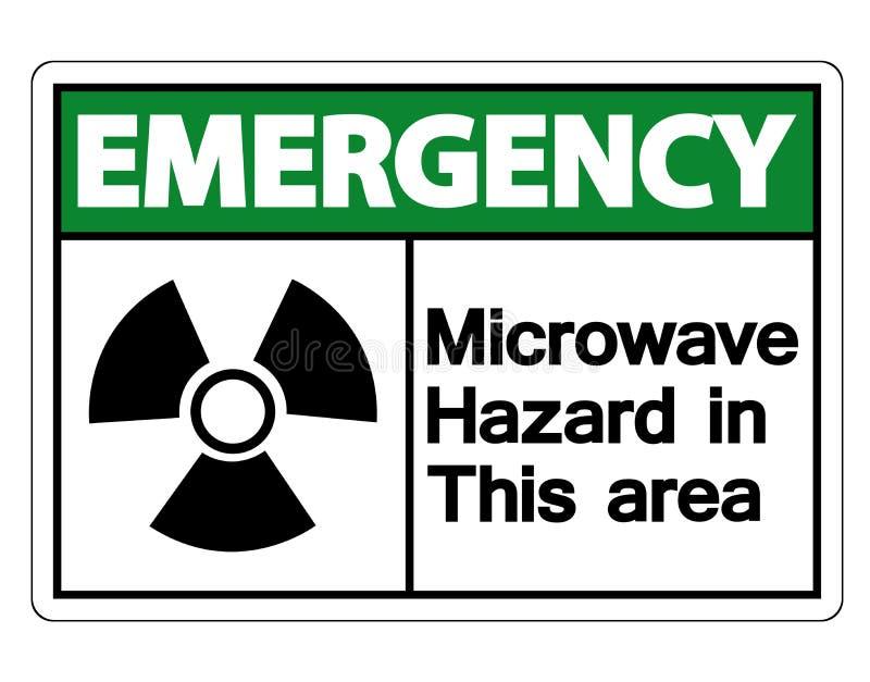 在白色背景,传染媒介例证的标志紧急微波道路危险标志 向量例证