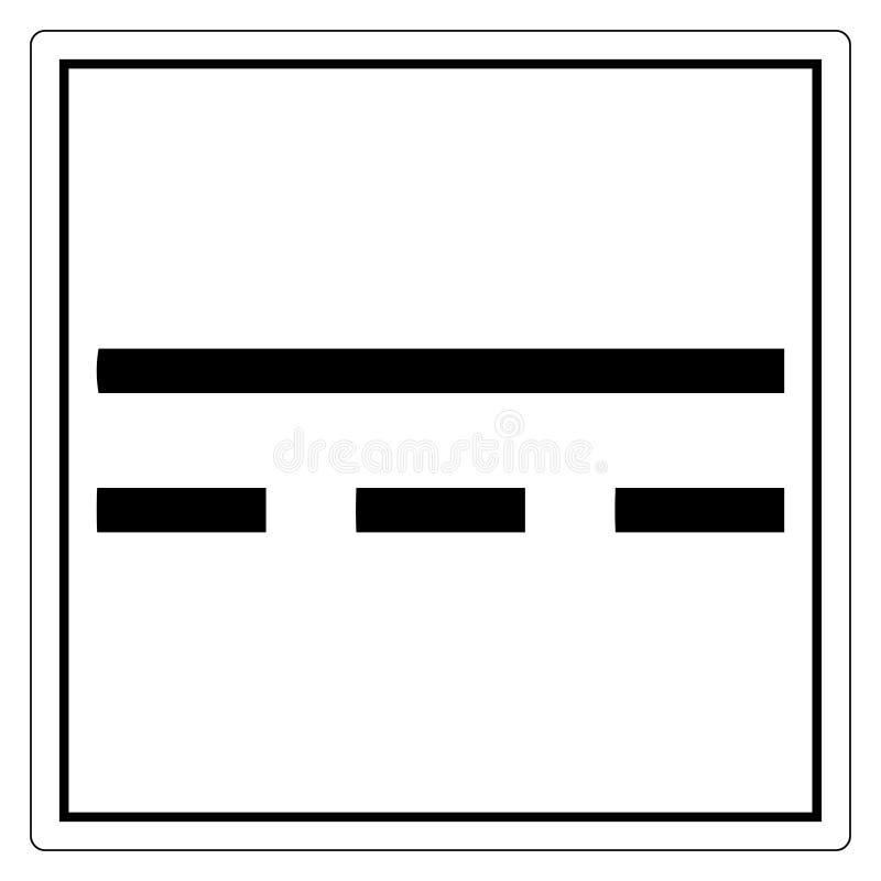 在白色背景,传染媒介例证EPS的直流电DC标志标志孤立 10 库存例证