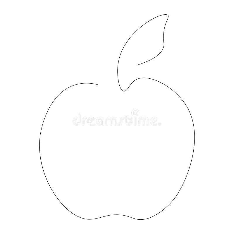 在白色背景,传染媒介的苹果计算机果子 向量例证