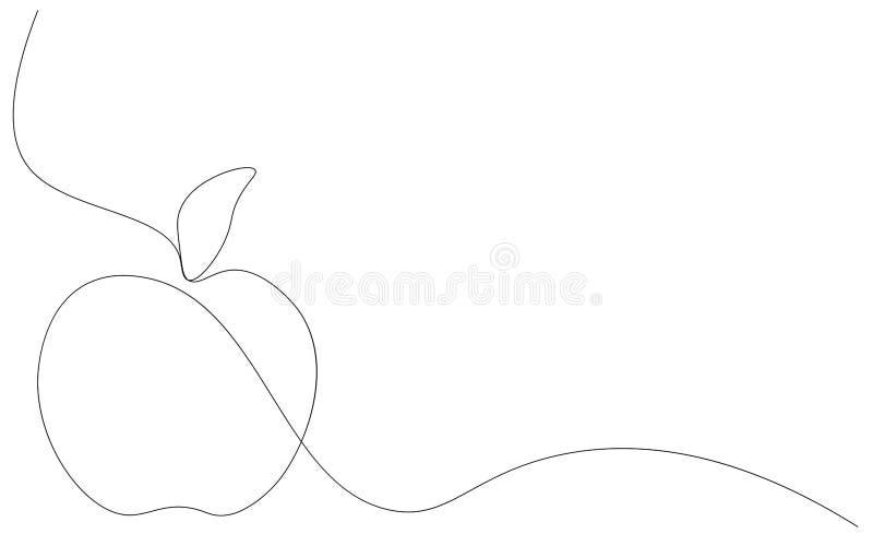 在白色背景,传染媒介的苹果计算机果子 皇族释放例证