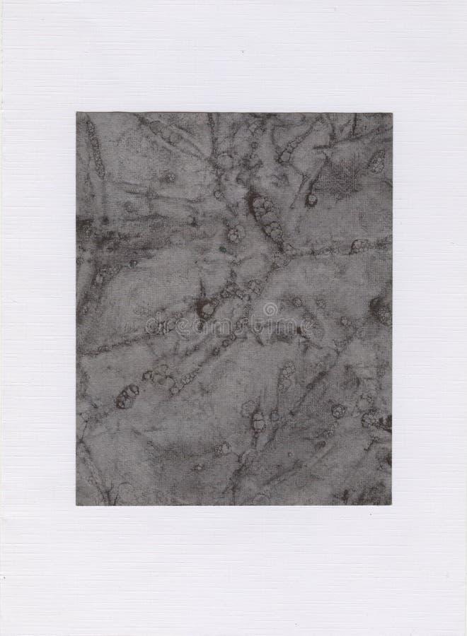 在白色背景,在白色背景,大理石作用的深灰正方形的灰色长方形 免版税图库摄影